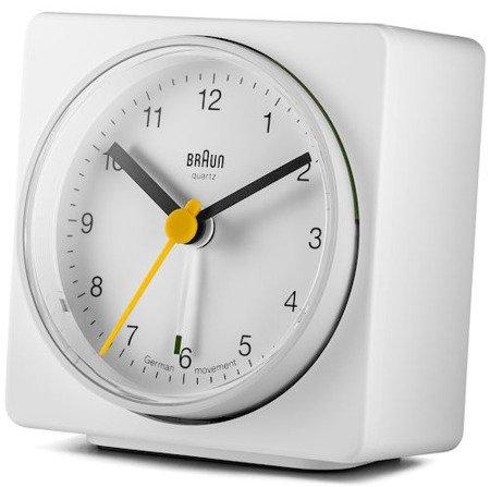 Budzik BRAUN alarm narastający biały średni BNC011WHWH