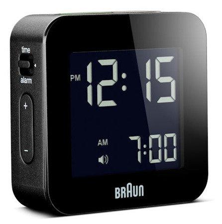 Budzik BRAUN podświetlenie drzemka alarm narastający BNC008BK