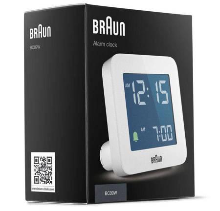 Budzik Braun  elektroniczny biały 7,5 cm BC09W