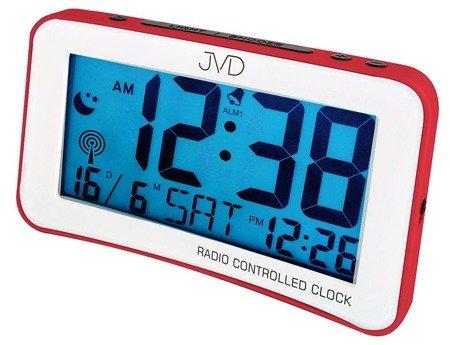 Budzik JVD STEROWANY RADIOWO 2 alarmy drzemka RB860.1