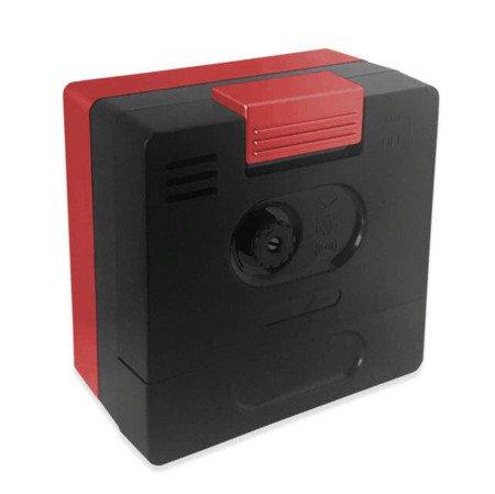 Budzik JVD czerwony NEOBRITE mały 6cm LAS3011