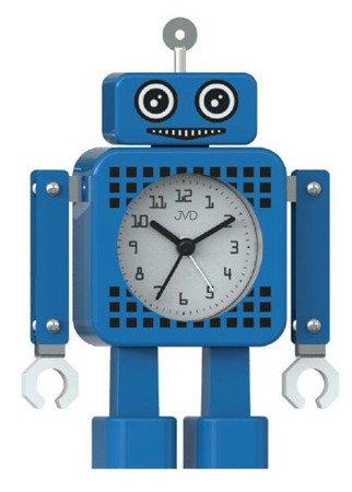 Budzik JVD dziecięc ROBOT niebieski 19cm SRP2304.1