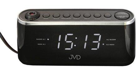 Budzik JVD sieciowy PROJEKTOR RADIO 21,5 cm SB97.3
