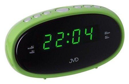Budzik JVD sieciowy RADIO  2 alarmy 12,4 cm SB95.2