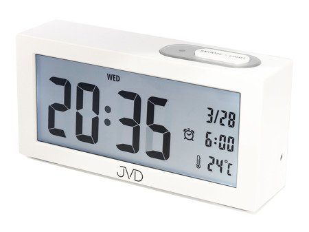 Budzik JVD termometr SENSOR LIGHT 15 cm SB138.2