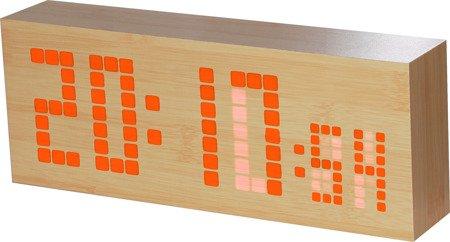Budzik MPM zegar DUŻY sieciowy termometr kalendarz C02.3571.51