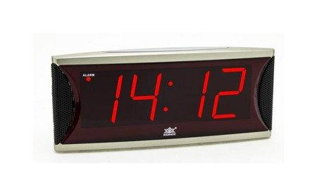Budzik sieciowy drzemka 2 głośności alarmu duży Xonix 1810 Red