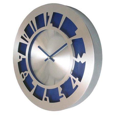 SUPER zegar ścienny aluminium średni AL2035BL