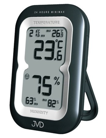 TERMOMETR HIGROMETR JVD alarm 7x10 cm T9230.1