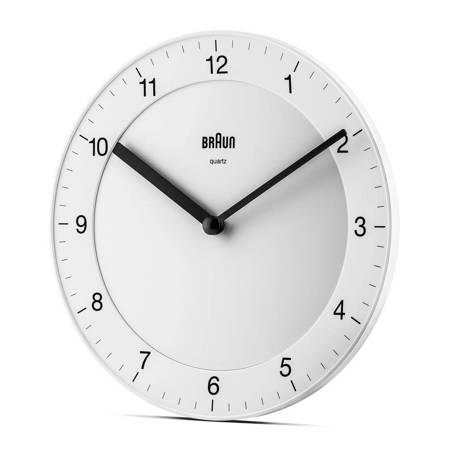 Zegar Braun ścienny biały CICHY 20 cm BC06W