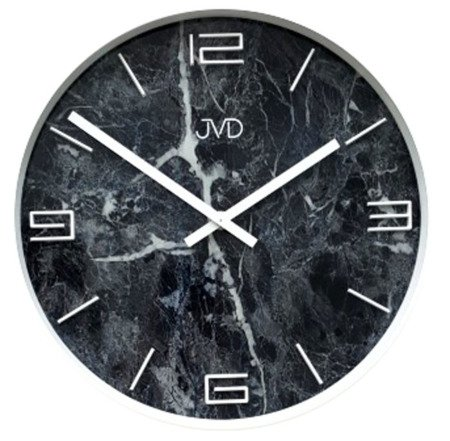 Zegar JVD ścienny 30 cm KAMIEŃ marmur HC21.1