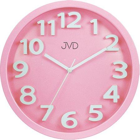 Zegar JVD ścienny 33 cm dziecięcy CYFRY 3D CICHY nowoczesny HA48.3