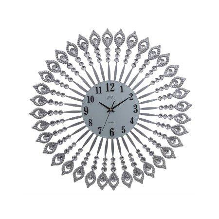 Zegar JVD ścienny 60 cm DESIGNERSKI kryształy HJ81.1