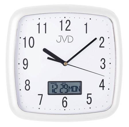 Zegar JVD ścienny CICHY DATOWNIK biały DH615.4