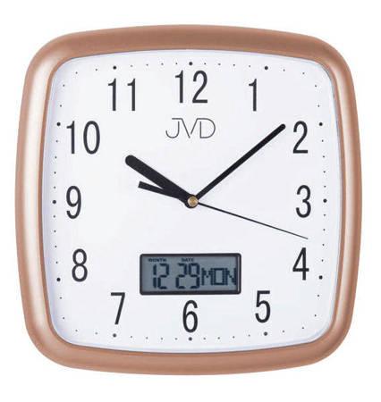Zegar JVD ścienny CICHY DATOWNIK złoty DH615.5