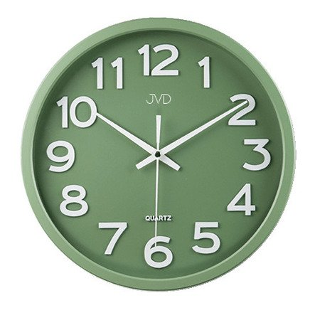Zegar JVD ścienny CICHY czytelny HX2413.12