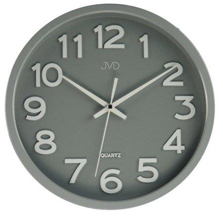 Zegar JVD ścienny CICHY czytelny HX2413.3