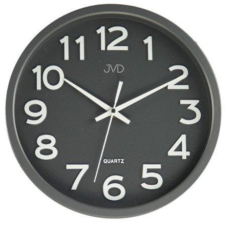 Zegar JVD ścienny CICHY czytelny szary HX2413.2