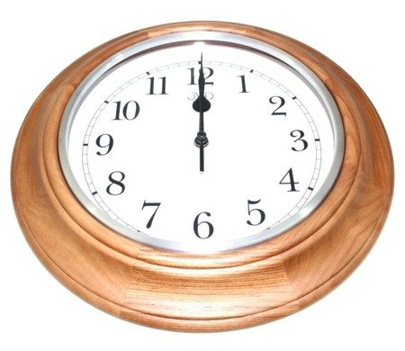 Zegar JVD ścienny CICHY drewniany dąb NS27043.11