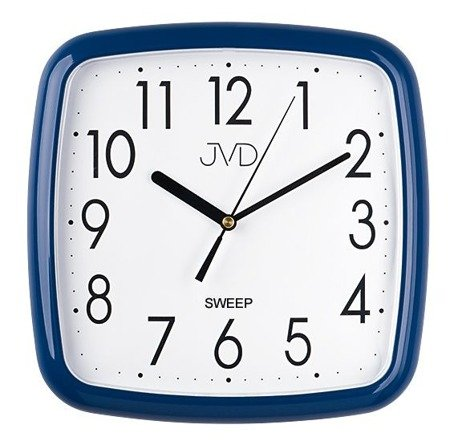 Zegar JVD ścienny CICHY niebieski HP615.12