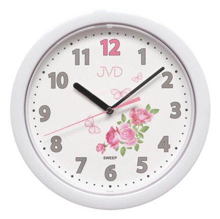 Zegar JVD ścienny CICHY róże HP612.D1