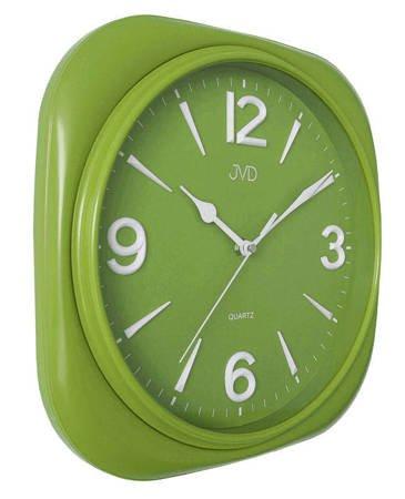 Zegar JVD ścienny CICHY zielony czytelny HX2444.2