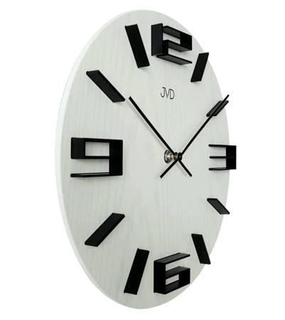 Zegar JVD ścienny DREWNIANY biały 30 cm HC32.1