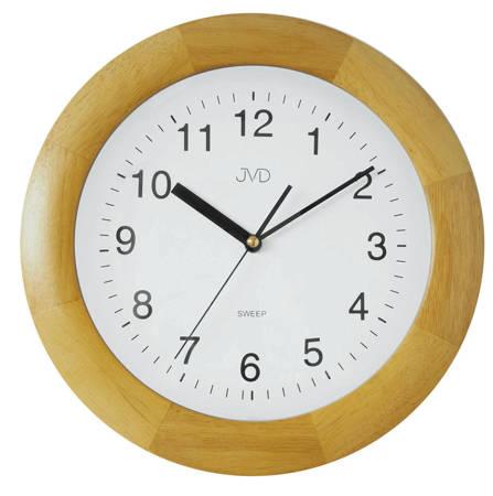 Zegar JVD ścienny DREWNIANY brązowy 30 cm NS7017.2