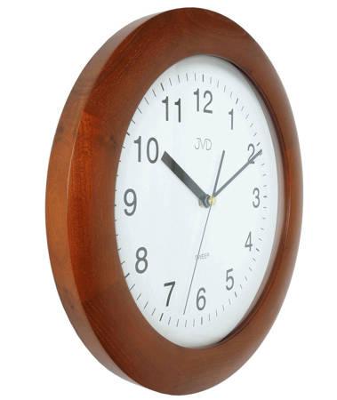 Zegar JVD ścienny DREWNIANY brązowy 30 cm NS7017.3
