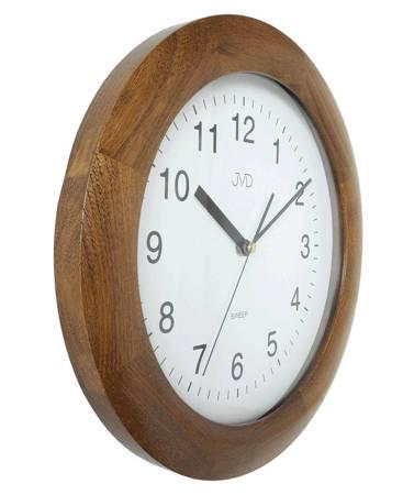 Zegar JVD ścienny DREWNIANY orzech 30 cm NS7017.1