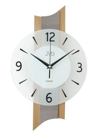 Zegar JVD ścienny DREWNO szkło 40 cm NS19034.1