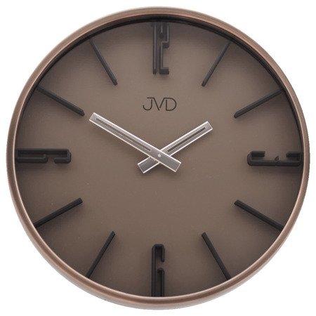 Zegar JVD ścienny METAL MIEDŹ nowoczesny HC17.1