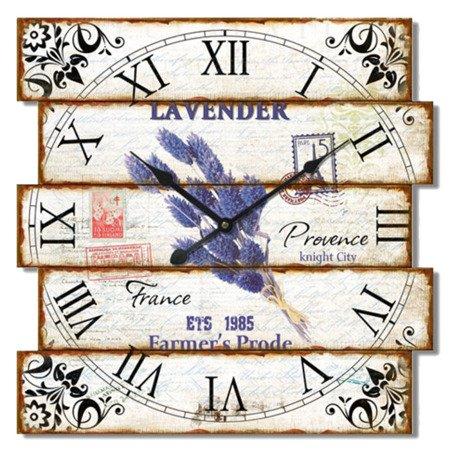 Zegar JVD ścienny RETRO lawenda 40 cm NB12