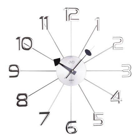 Zegar JVD ścienny STAL duży 48,5 cm HT072