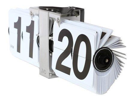 Zegar JVD ścienny STOJĄCY 36 cm KLAPKOWY HF18.1