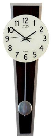 Zegar JVD ścienny WAHADŁO szkło drewno NS17020.11
