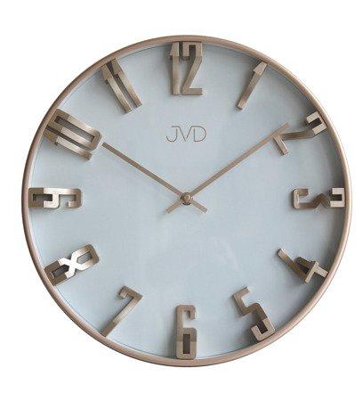 Zegar JVD ścienny WYPUKŁE cyfry 3D NOWOCZESNY HO171.3