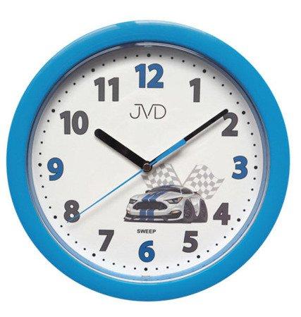 Zegar JVD ścienny dziecięc niebieski 25cm HP612.D5