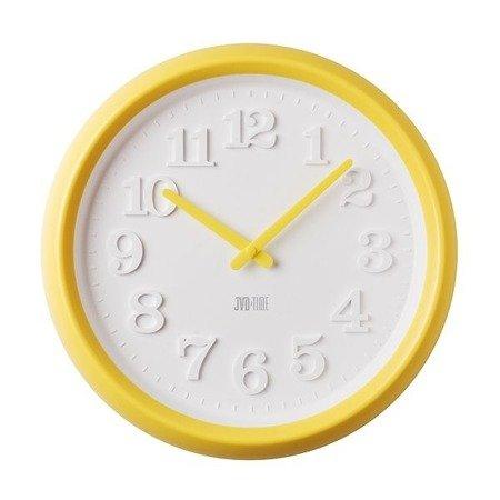Zegar JVD ścienny dziecięcy żółty H101.2