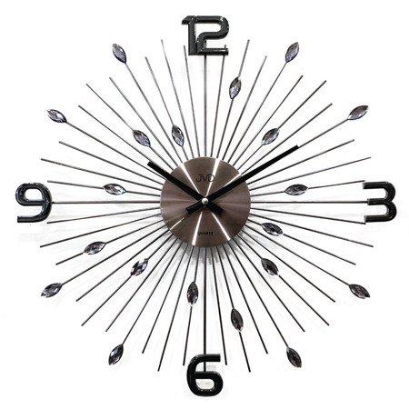 Zegar JVD ścienny kryształ grafit duży 49cm HT104.2