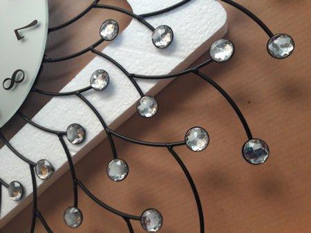 Zegar JVD scienny kryształy metal HJ82-A1