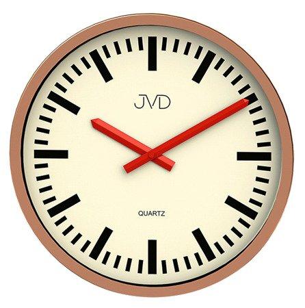 Zegar JVD ścienny nowoczesny ALUMINIUM H306.2