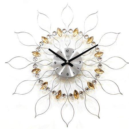 Zegar JVD ścienny srebrny DUŻY 49 cm HT106