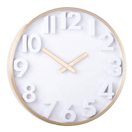 Zegar JVD ścienny złoty METAL 30 cm HC03.3