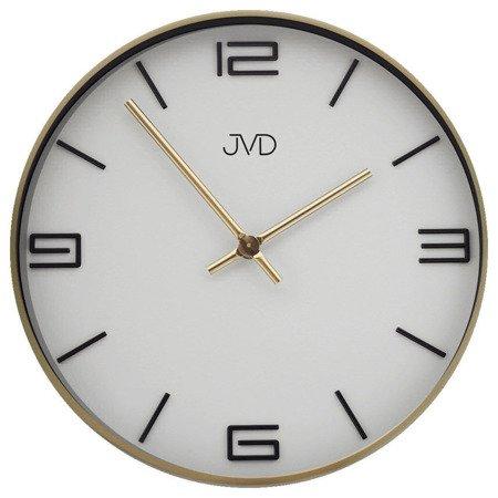 Zegar JVD ścienny złoty METAL 30 cm HC19.2