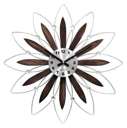 Zegar LAVVU ścienny KRYSZTAŁY 50 cm DREWNO LCT1113