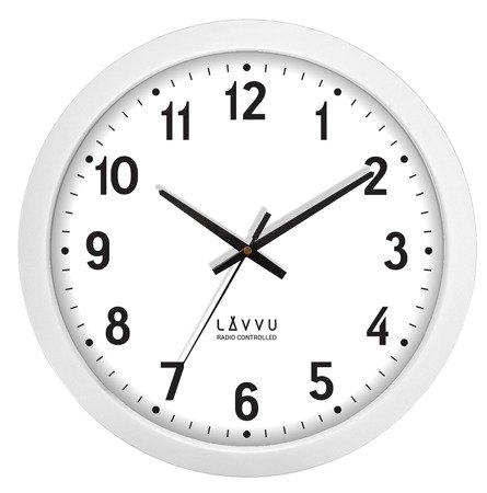 Zegar LAVVU ścienny STEROWANY RADIOWO LCR2020