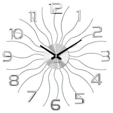 Zegar LAVVU ścienny srebrny METAL 49 cm LCT1220