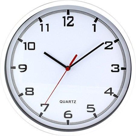 Zegar MPM ścienny 25,5 cm biały tworzywo nowoczesny czytelny E01.2478.00.A