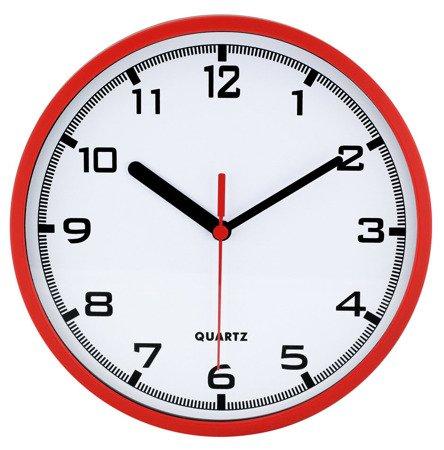 Zegar MPM ścienny CZERWONY nowoczesny czytelny 20 cm E01.2477.20
